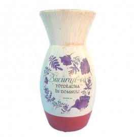 Vaza ceramica text biblic - Filipeni 4:4