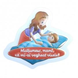 Magnet plastic - mama si copilul