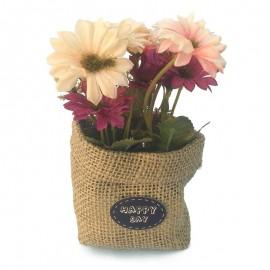 Saculet decor - crizanteme
