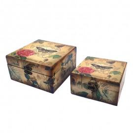 Set 2 cutii vintage (17x23)
