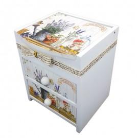 Caseta lemn cu 2 sertare - vintage