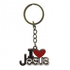 Breloc metal - I love Jesus