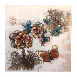 Tablou panza - flori si fluturi