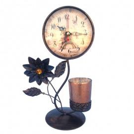 Ceas cu suport de lumanare - floare