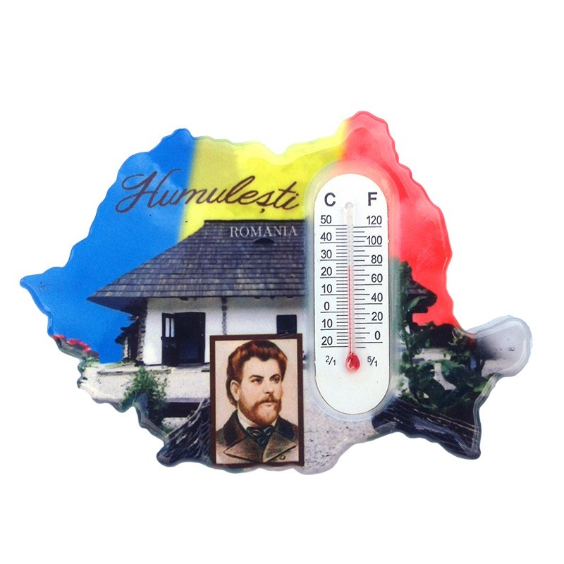 Magnet Harta Cu Termometru Humulesti Artlandplus