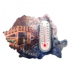 Magnet cu termometru - Slanic Prahova
