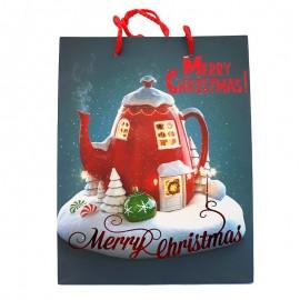 Punga de cadou - Merry Christmas (32 cm)