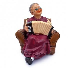Mos/ baba cu instrumente muzicale