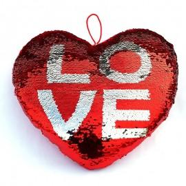 Perna inima paiete - LOVE (30 cm)