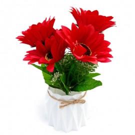 Ghiveci cu crizanteme