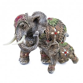 Elefant cu pui (30 cm)