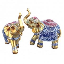 Set elefanti cu gravuri