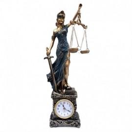 Decoratiune - Zeita Justitiei cu ceas