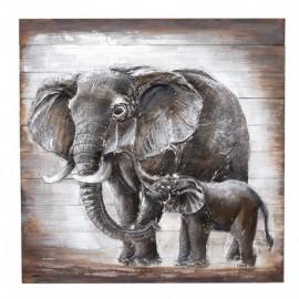 Tablou lemn - elefanti