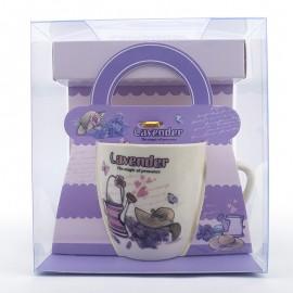 Cana cu lavanda - ambalaj geanta
