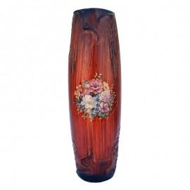 Vaza ceramica - flori desenate (35 cm)