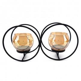 Set 2 candele - suport sfera