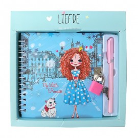 Set agenda cu pix - Romantic girl