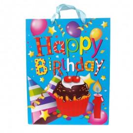 Punga hartie - Happy Birthday (40 cm)