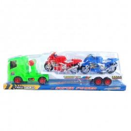 Camion cu 2 motociclete