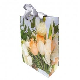 Punga cadou - lalele/ trandafiri (24 cm)