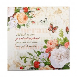 Set carnet cu pix - citat flori