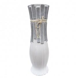 Vaza ceramica cu dungi si snur (50 cm)