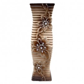 Vaza ceramica - flori si cristale (50 cm)