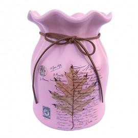 Vaza cu siret si frunza (15 cm)