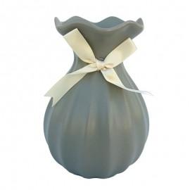 Vaza bombata cu funda (20 cm)