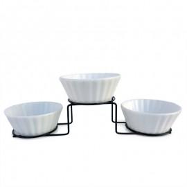 Suport metal - 3 boluri ceramica