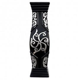 Vaza neagra cu flori (60 cm)