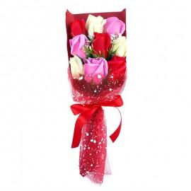 Buchet 9 trandafiri din sapun