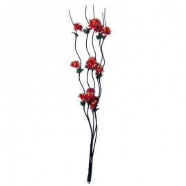Decoratiune lemn cu crizanteme