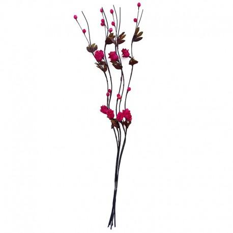 Decoratiune din lemn cu flori