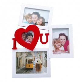 Rama foto colaj 3 poze - I Love You