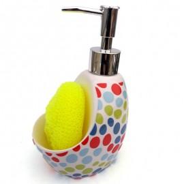 Dispenser detergent cu burete vase - buline