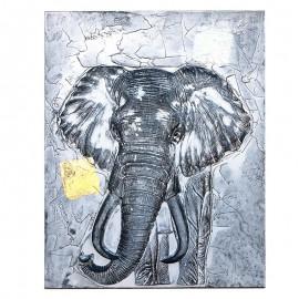 Tablou cu elefant 3D (100 cm)