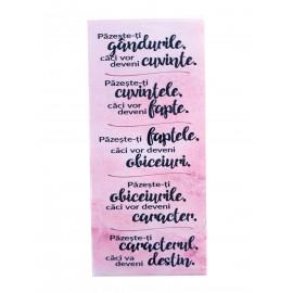 Magnet placuta - citate biblice (12 cm)