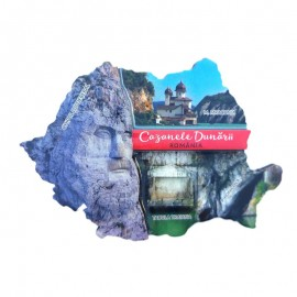 Magnet harta - Cazanele Dunarii