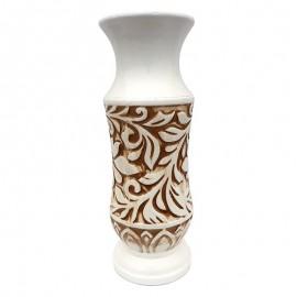 Vaza alba - model floral (30 cm)