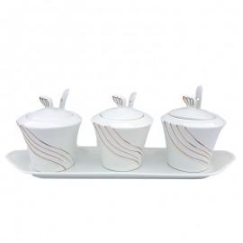 Set 3 recipiente cu tavita
