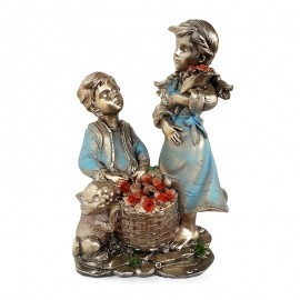 Figurina - copii cu flori