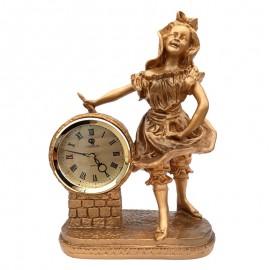 Statueta fata cu ceas