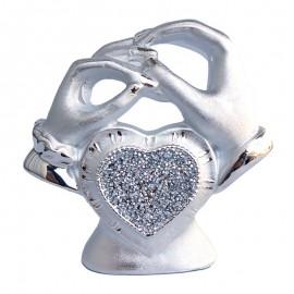 Statueta inima cu cristale