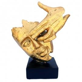 Statueta chip - ochi acoperit