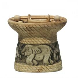 Candela ceramica cu bol si elefanti