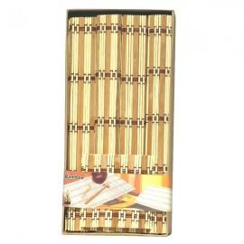 Set 4 suporturi farfurii din bambus