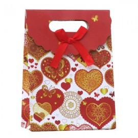 Punga de cadou inimi (21 cm)