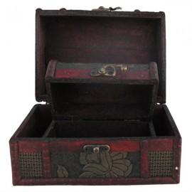 Casetuta de lemn - set 2 cufere (11 cm)